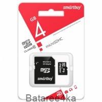 Карта памяти Smartbuy MicroSD 4GB