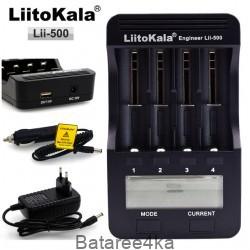 Зарядное устройство LiitoKala lii 500 с LCD-дисплеем, , 22.00$, 22236, LiitoKala, Зарядки для 18650,16340,14500