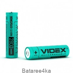 Аккумулятор Videx Li-Ion 18650 без защиты 2800mAh, , 3.00$, 2014502, Videx, Аккумуляторы Li-Ion 18650 ,14500,16340.
