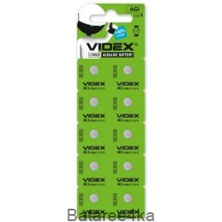 Батарейка часовая Videx AG 1 (LR621), , 0.04$, 22222, Videx, Батарейки таблетки Videx