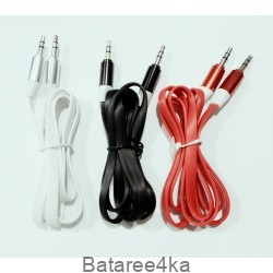 Aux кабель 1 метр лапша в упаковке, , 0.60$, 52224, , AUX Кабеля