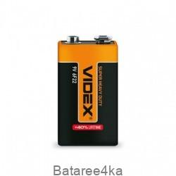 Батарейки солевые Videx 9V крона, , 0.28$, 20115, Videx, Батарейки Videx