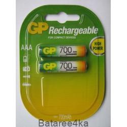 Аккумуляторы GP AAА 700 mAh, , 1.25$, 6100, GP batteries, Аккумуляторы GP
