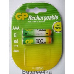 Аккумуляторы GP AAА 800 mAh, , 1.45$, 6102, GP batteries, Аккумуляторы GP