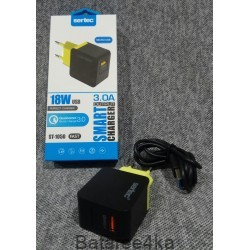 Зарядное устройство Sertec ST 1050 18W 3.0A Qualcomm Quick Charge 3.0, , 3.70$, 68909, Sertec, Зарядные устройства для телефонов планшетов