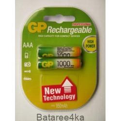 Аккумуляторы GP AAА 1000 mAh, , 1.80$, 6104, GP batteries, Аккумуляторы GP