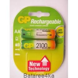 Аккумуляторы GP AA 2100 mAh, , 2.15$, 6107, GP batteries, Аккумуляторы GP