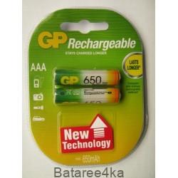 Аккумуляторы GP AAА 650 mAh, , 0.95$, 6111, GP batteries, Аккумуляторы GP