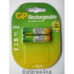 Аккумуляторы GP AAА 750 mAh, , 1.35$, 6101, GP batteries, Аккумуляторы GP