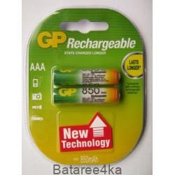 Аккумуляторы GP AAА 850 mAh, , 1.55$, 6103, GP batteries, Аккумуляторы GP