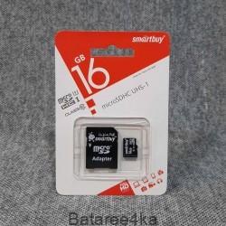 Карта памяти Smartbuy MicroSD UHS 16GB class 10, , 2.50$, 55444, Smartbuy, Карты памяти