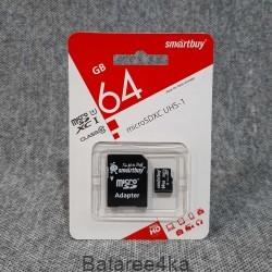 Карта памяти Smartbuy MicroSD UHS 64GB class 10, , 5.00$, 55447, Smartbuy, Карты памяти
