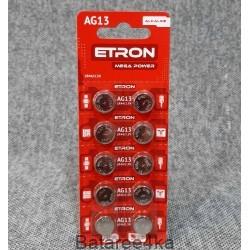 Батарейки ETRON AG13, , 0.04$, 55683, ETRON, Батарейки таблетки ETRON