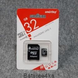 Карта памяти Smartbuy MicroSD UHS 32GB class 10, , 3.50$, 55445, Smartbuy, Карты памяти