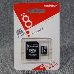 Карта памяти Smartbuy MicroSD 8GB class 10, , 2.80$, 55590, Smartbuy, Карты памяти