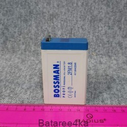 Аккумулятор Bossman 4V1.8Ah, , 2.60$, 12318, Bossman, Аккумуляторы свинцово-кислотные