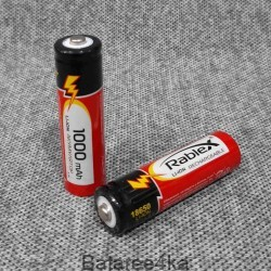 Аккумулятор Rablex 18650 Li-Ion 1000 mAh, , 0.65$, 101000, Rablex, Аккумуляторы Li-Ion 18650 ,14500,16340.