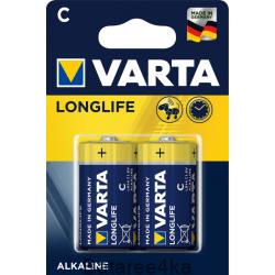 Батарейка Varta Longlife C, , 0.90$, 75766, Varta, Батарейки Varta