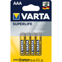 Батарейки VARTA Superlife AАА, , 0.13$, 202032, Varta, Батарейки Varta