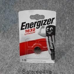 Батарейка Energizer CR1632, , 1.10$, 163216, Energizer, Батарейки таблетки ENERGIZER