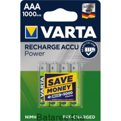 Аккумуляторы VARTA AAA 1000mAh, , 2.85$, 2000, Varta, Аккумуляторы Varta