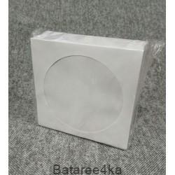 VS конверт для CD и DVD дисков белый, , 2.00$, 44433, , Диски