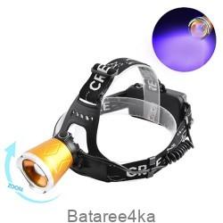 Ультрафиолетовый фонарь на лоб Small Sun UV5866 XPE+UV, , 7.00$, 686668, , Фонари налобные Police
