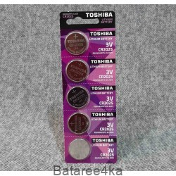 Батарейки Toshiba CR2025, , 0.30$, 100022, Toshiba, Батарейки дисковые