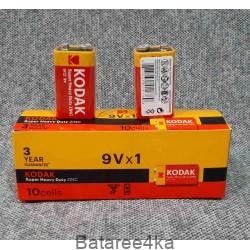 Батарейка Kodak 9V крона, , 0.40$, 00086, Kodak, Батарейки Kodak