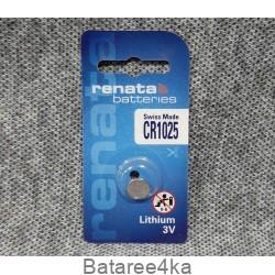 Батарейка Renata CR1025, , 0.85$, 111025, Renata, Батарейки таблетки RENATA