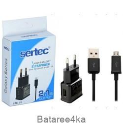Зарядное устройство Sertec STC-25 2.1A + кабель microUSB, , 2.00$, 67890, Sertec, Зарядные устройства для телефонов планшетов