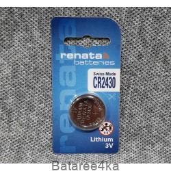 Батарейка Renata CR2430, , 1.17$, 112430, Renata, Батарейки таблетки RENATA