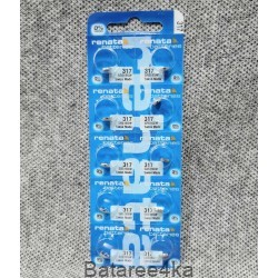 Батарейка часовая Renata 317, , 0.85$, 11317, Renata, Батарейки таблетки RENATA