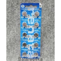 Батарейка часовая Renata 381, , 1.20$, 11381, Renata, Батарейки таблетки RENATA