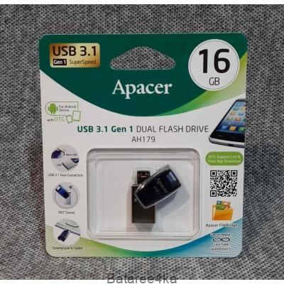 USB флешка 16GB apacer dual 3.0 otg